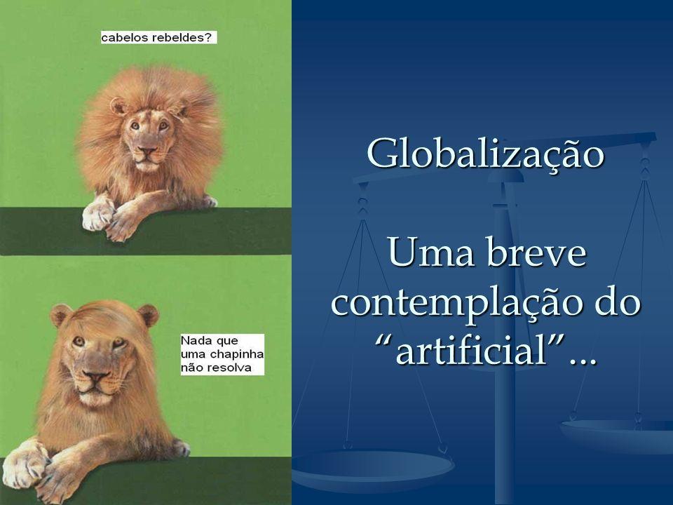 Globalização Uma breve contemplação do artificial ...