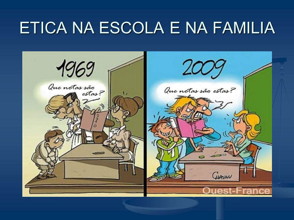ETICA NA ESCOLA E NA FAMILIA