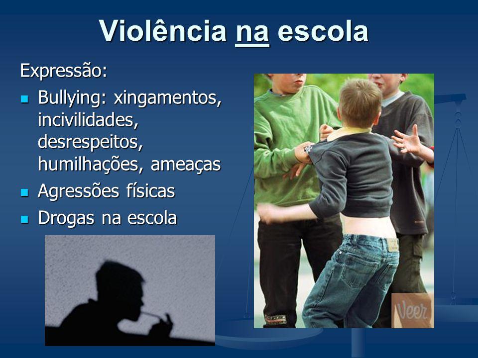 Violência na escola Expressão: