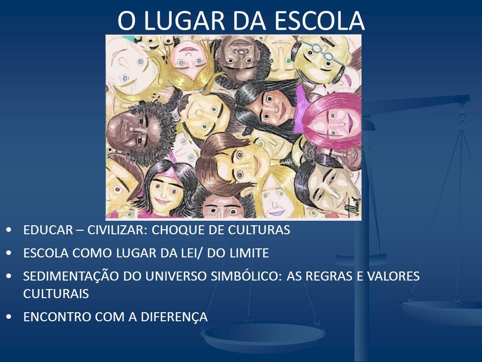 O LUGAR DA ESCOLA EDUCAR – CIVILIZAR: CHOQUE DE CULTURAS