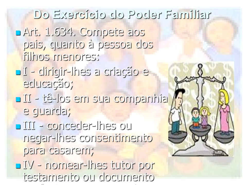 Do Exercício do Poder Familiar