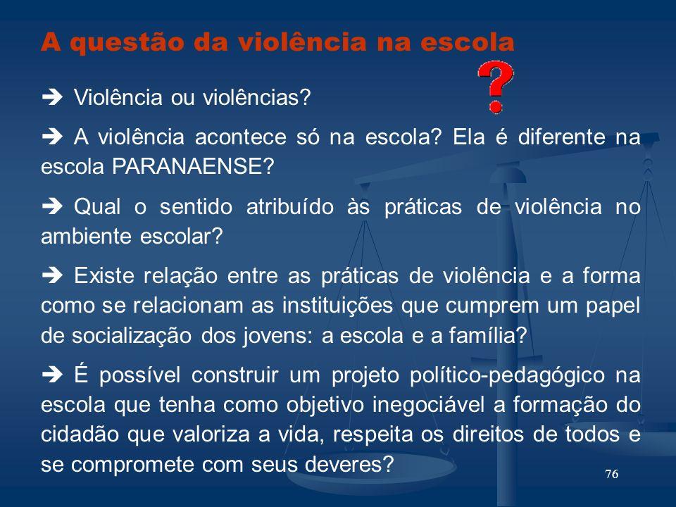 A questão da violência na escola