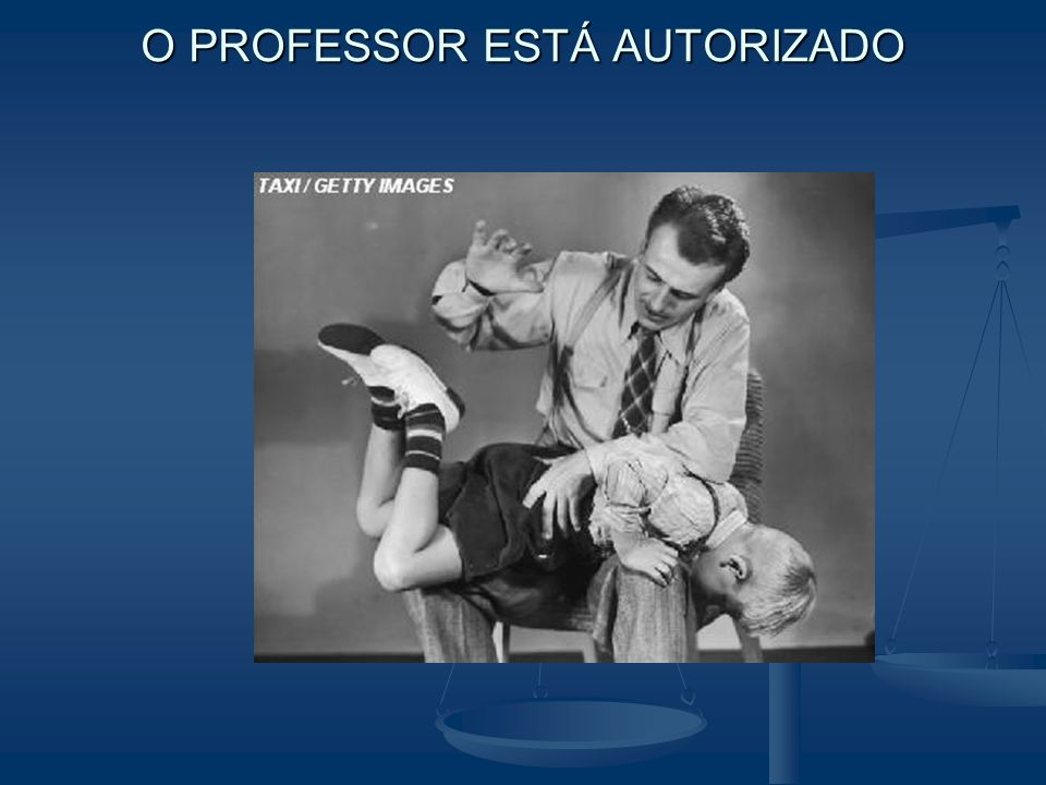 O PROFESSOR ESTÁ AUTORIZADO