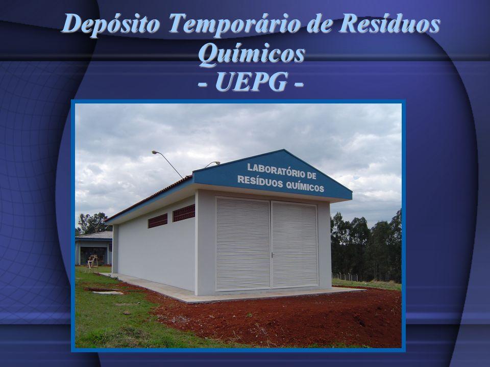 Depósito Temporário de Resíduos Químicos - UEPG -