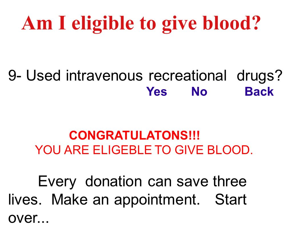 Am I eligible to give blood