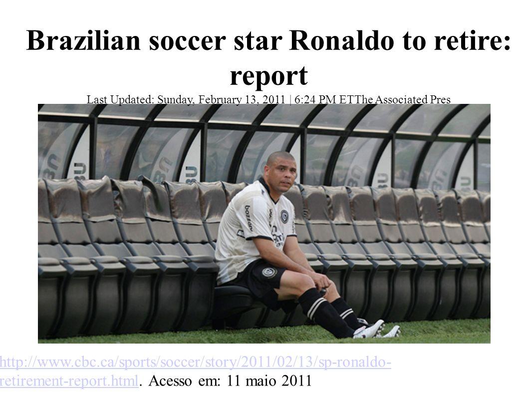 Brazilian soccer star Ronaldo to retire: report