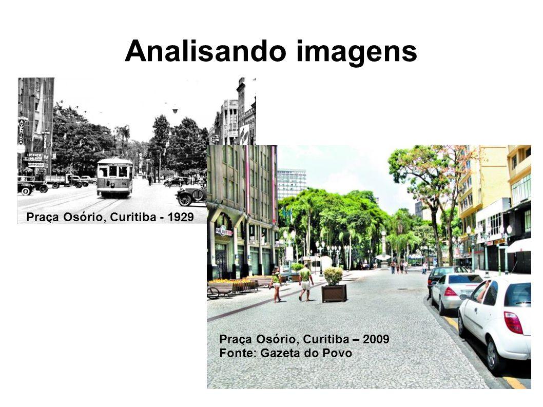 Analisando imagens Praça Osório, Curitiba - 1929