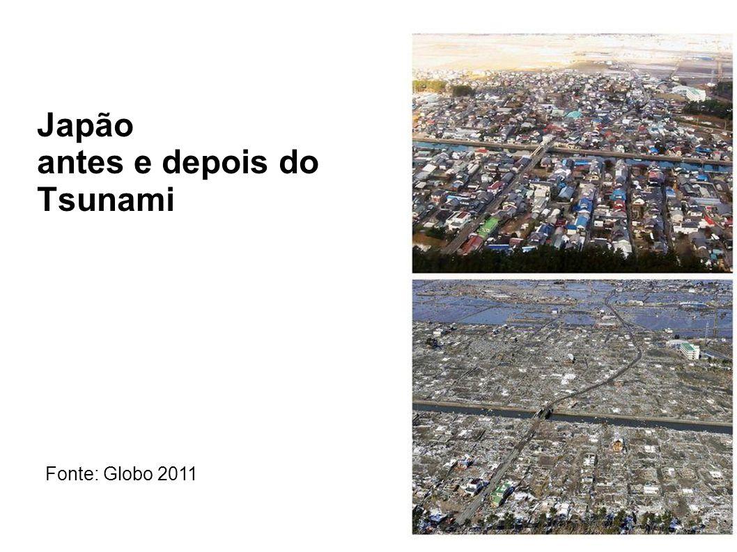 Japão antes e depois do Tsunami