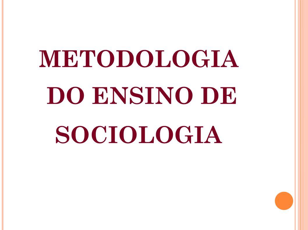 DO ENSINO DE SOCIOLOGIA