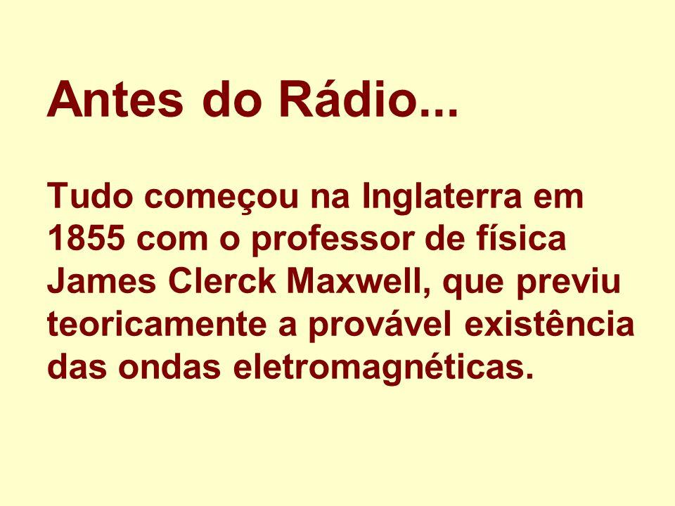 Antes do Rádio...