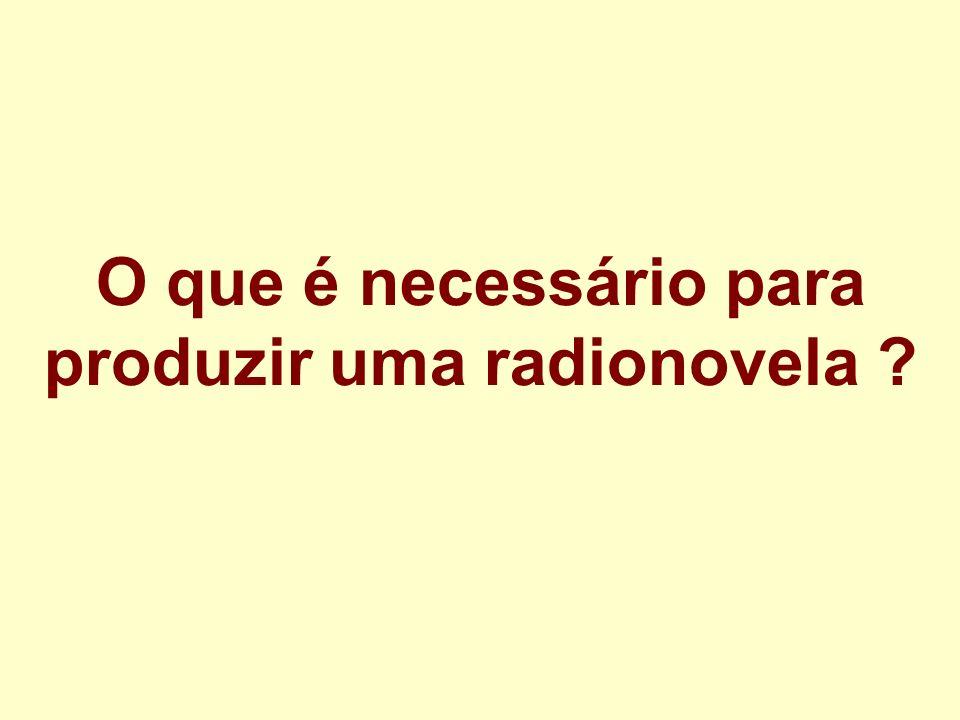 O que é necessário para produzir uma radionovela