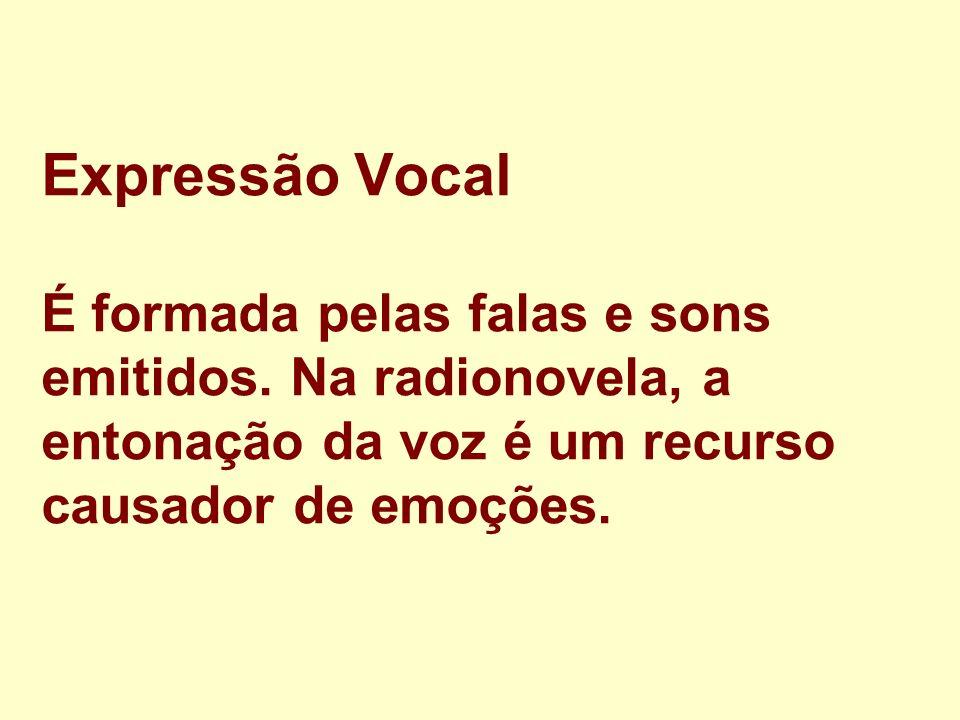 Expressão Vocal É formada pelas falas e sons emitidos