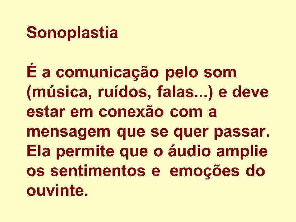 Sonoplastia É a comunicação pelo som (música, ruídos, falas