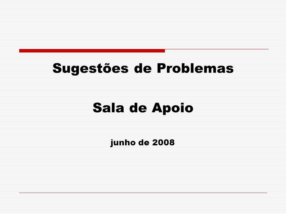 Sugestões de Problemas