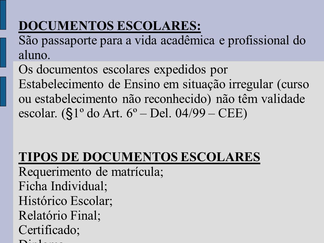DOCUMENTOS ESCOLARES: