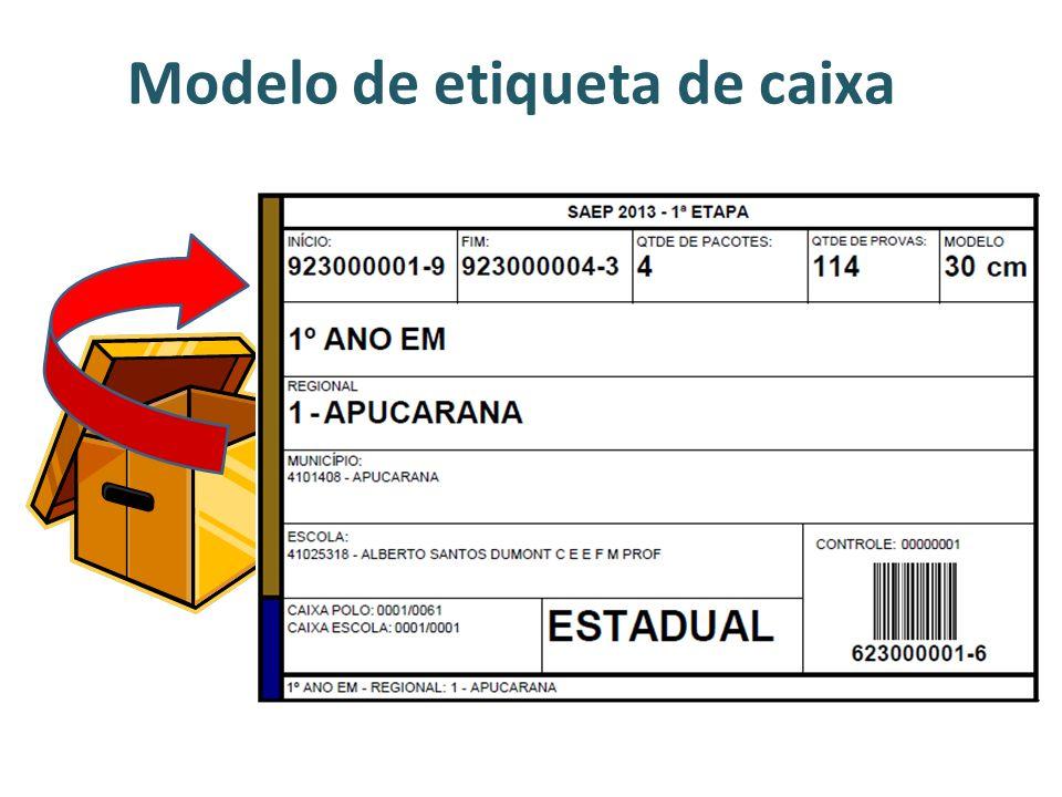 Modelo de etiqueta de caixa