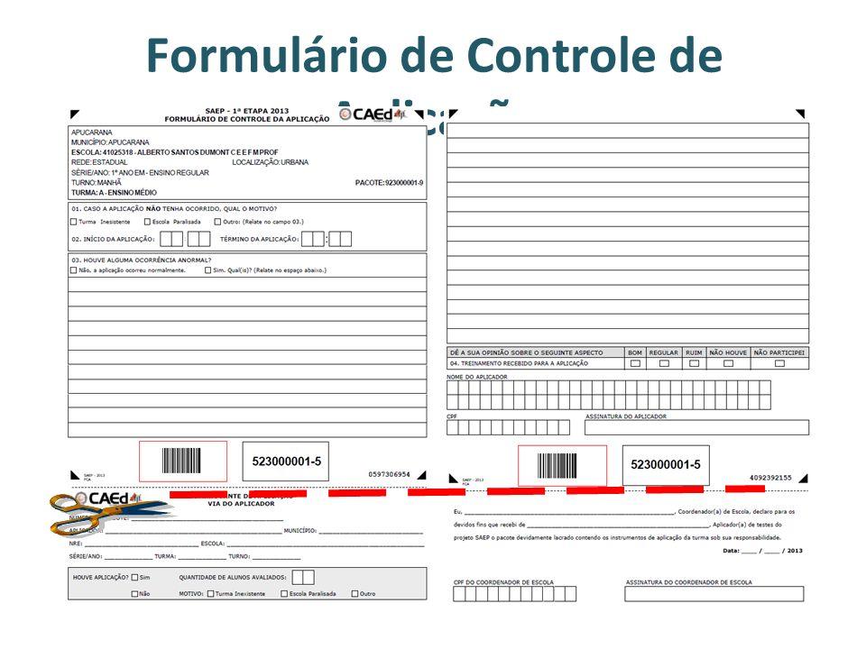 Formulário de Controle de Aplicação