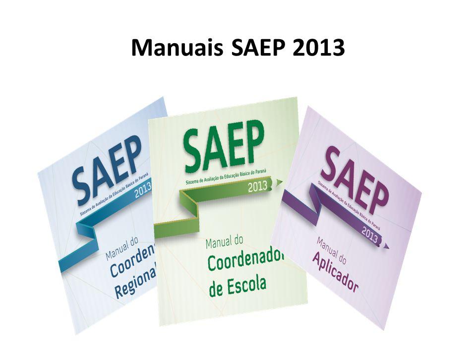 Manuais SAEP 2013