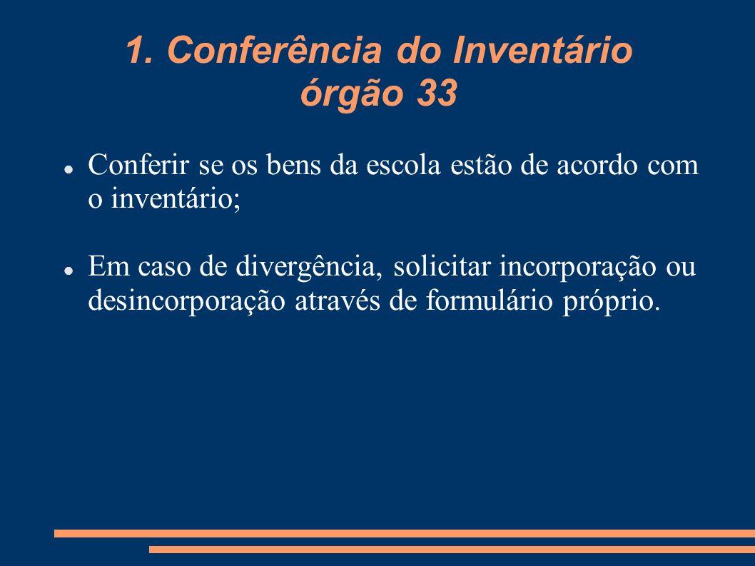 1. Conferência do Inventário órgão 33