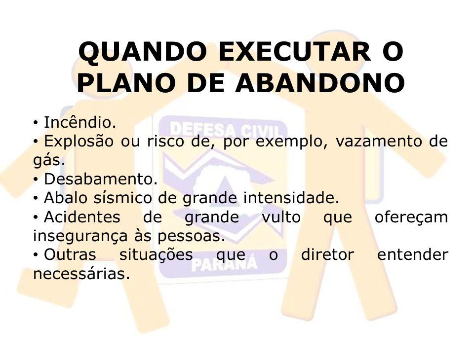 QUANDO EXECUTAR O PLANO DE ABANDONO