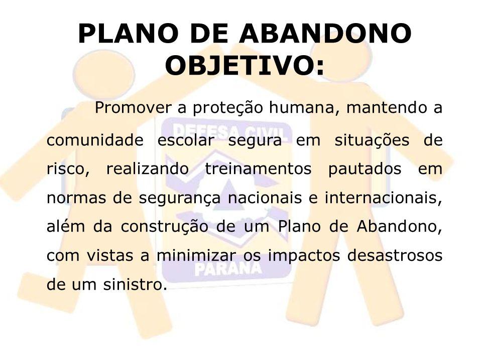 PLANO DE ABANDONO OBJETIVO: