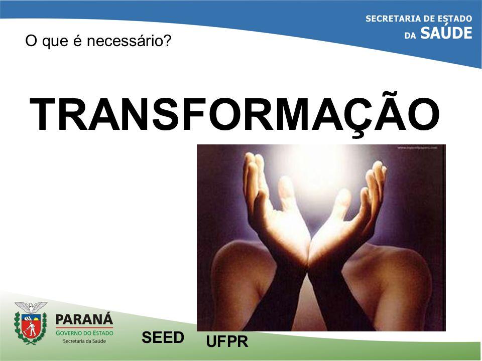 O que é necessário TRANSFORMAÇÃO UFPR SEED