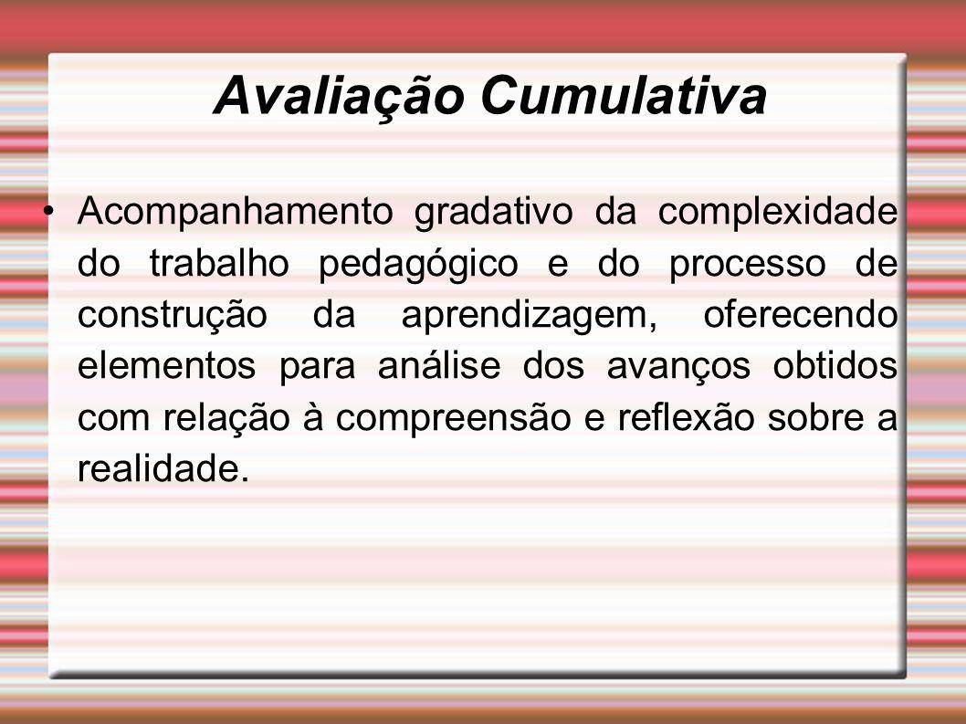 Avaliação Cumulativa