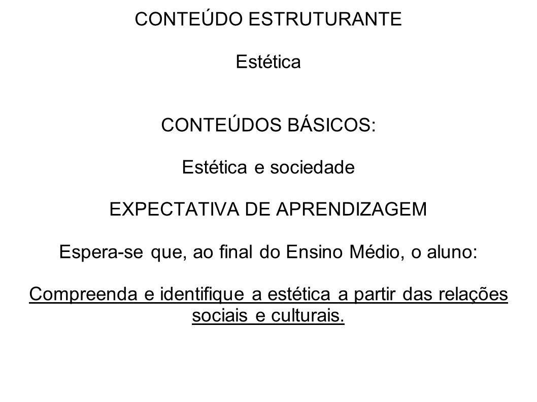 CONTEÚDO ESTRUTURANTE Estética
