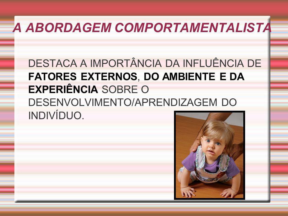 A ABORDAGEM COMPORTAMENTALISTA
