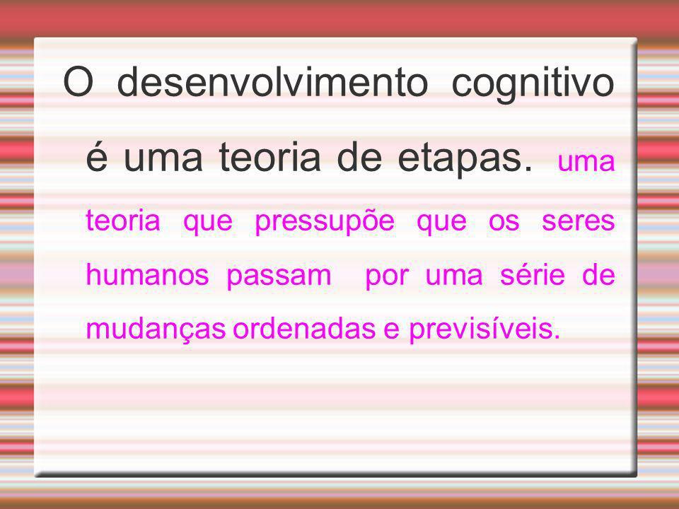 O desenvolvimento cognitivo é uma teoria de etapas