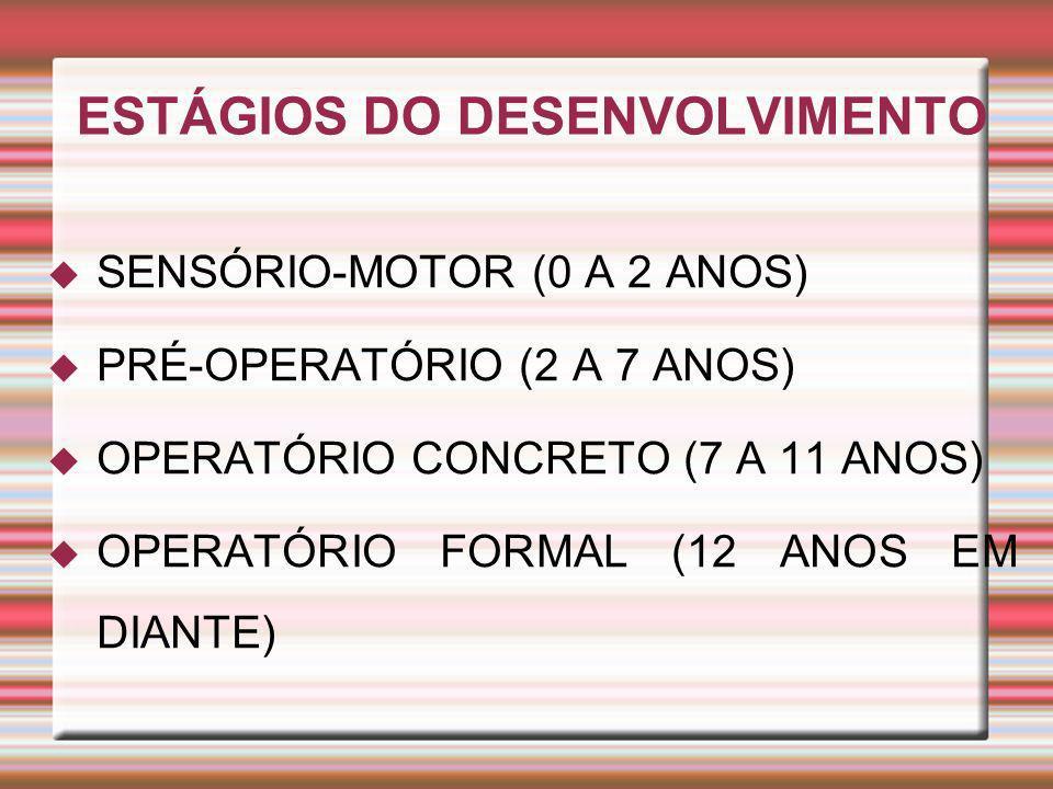 ESTÁGIOS DO DESENVOLVIMENTO