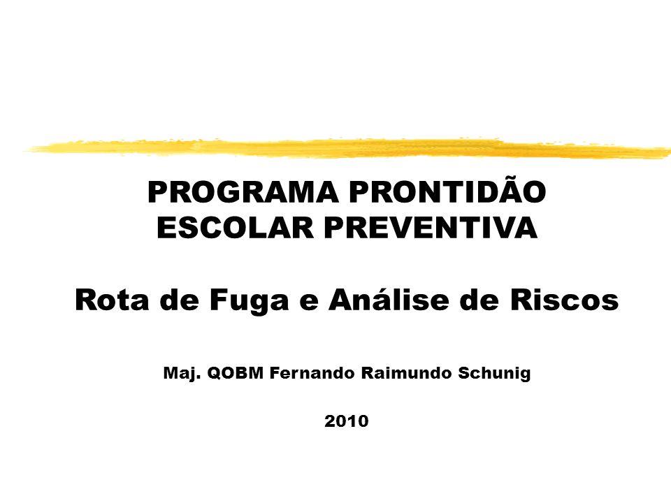 PROGRAMA PRONTIDÃO ESCOLAR PREVENTIVA Rota de Fuga e Análise de Riscos