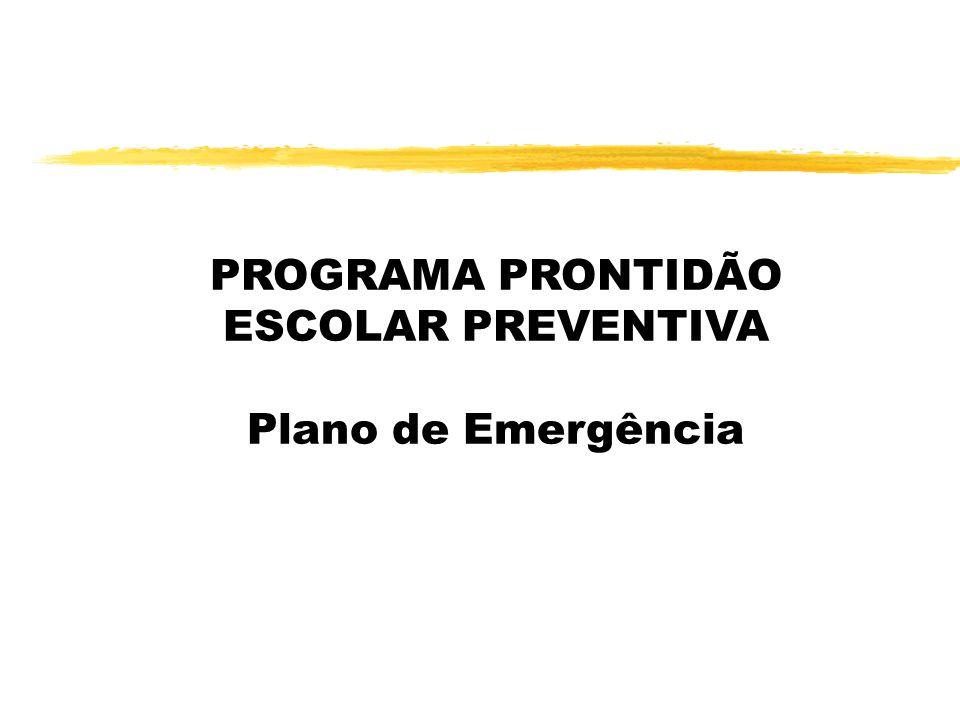 PROGRAMA PRONTIDÃO ESCOLAR PREVENTIVA Plano de Emergência