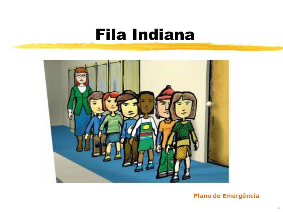 Fila Indiana Plano de Emergência 44 44