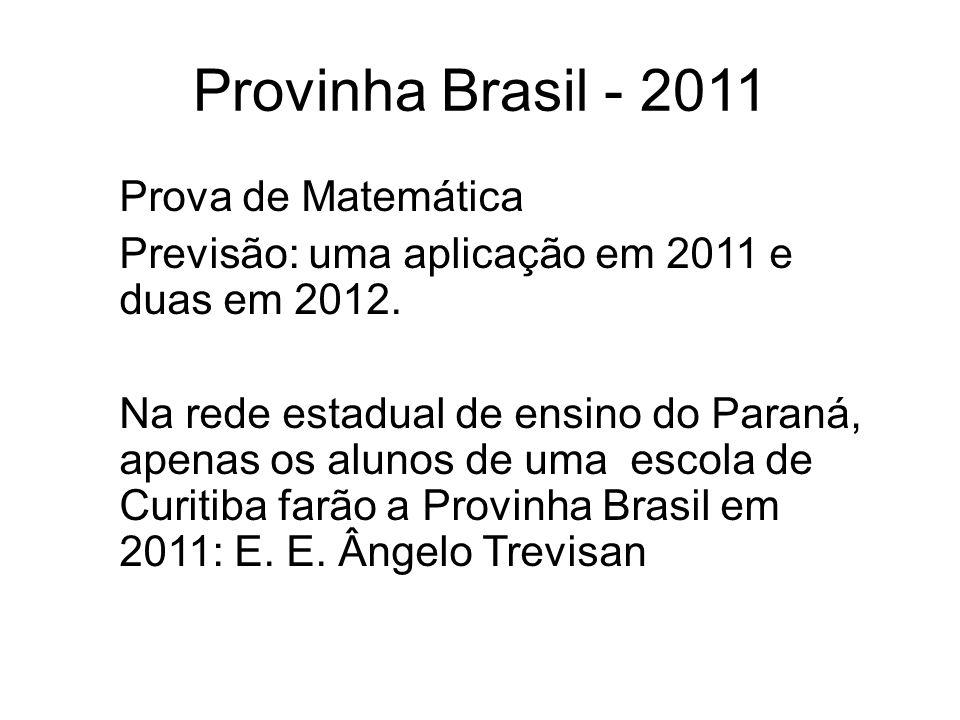 Provinha Brasil - 2011 Prova de Matemática