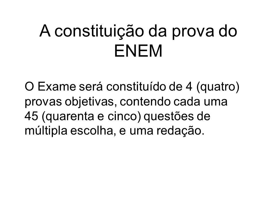 A constituição da prova do ENEM
