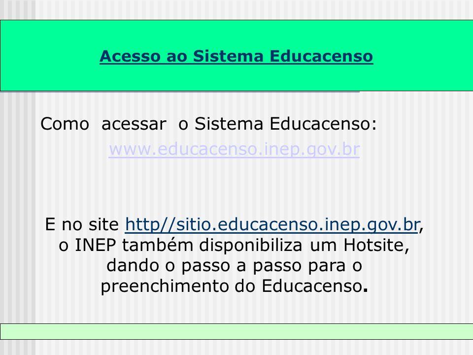 Acesso ao Sistema Educacenso