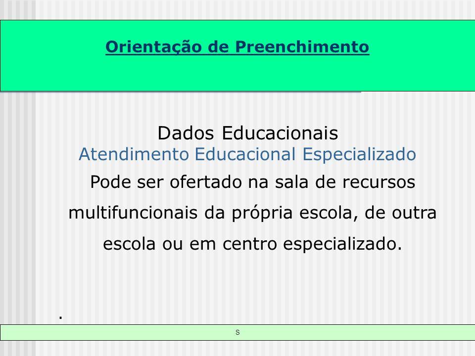 Dados Educacionais Atendimento Educacional Especializado