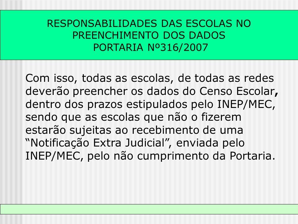 RESPONSABILIDADES DAS ESCOLAS NO