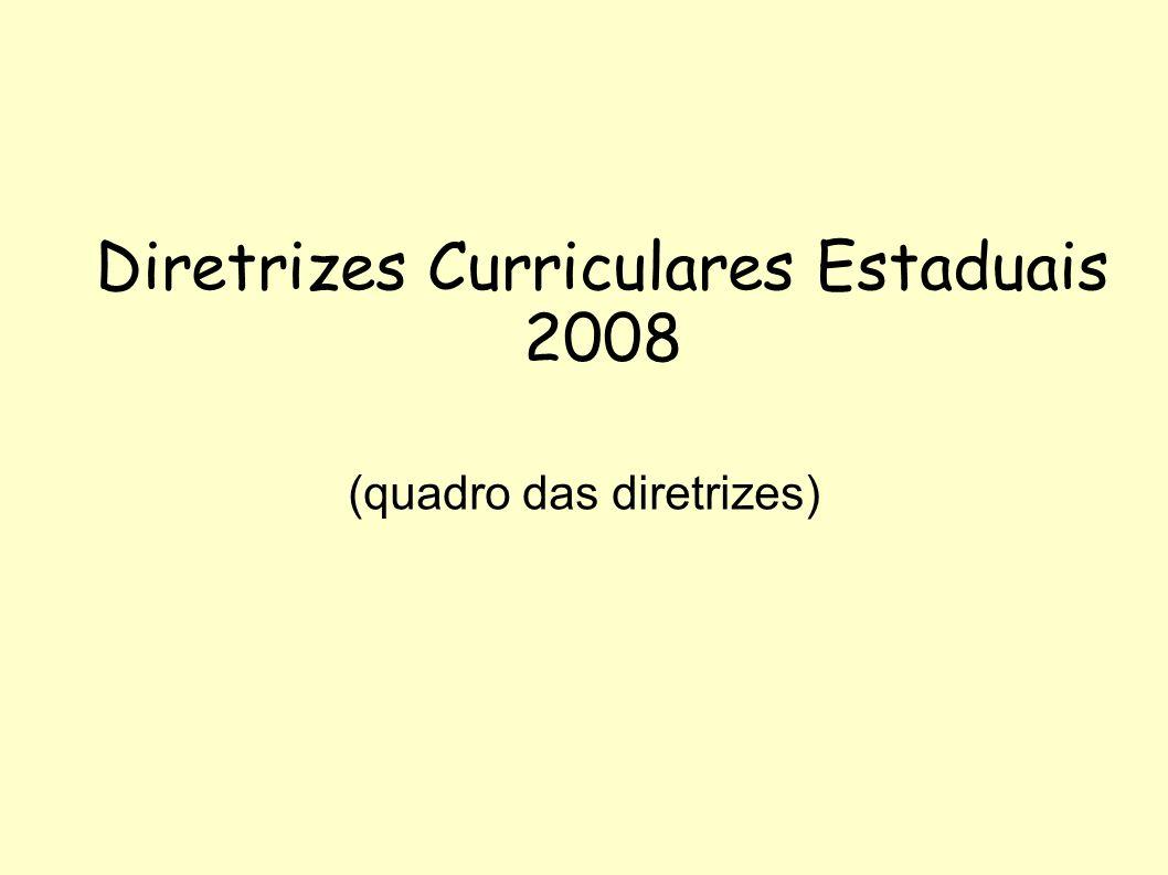 Diretrizes Curriculares Estaduais 2008