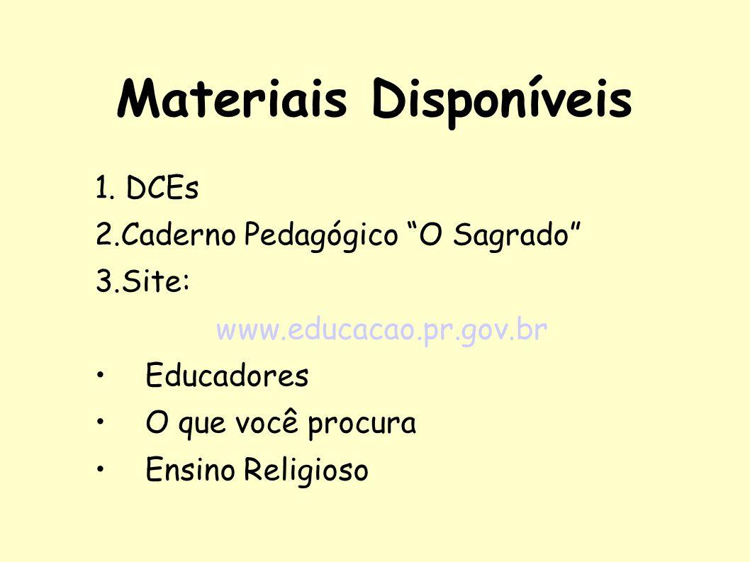 Materiais Disponíveis