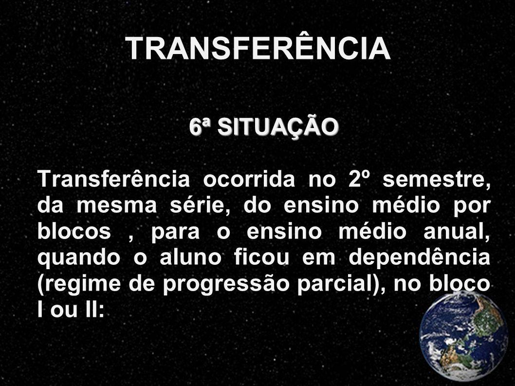 TRANSFERÊNCIA 6ª SITUAÇÃO