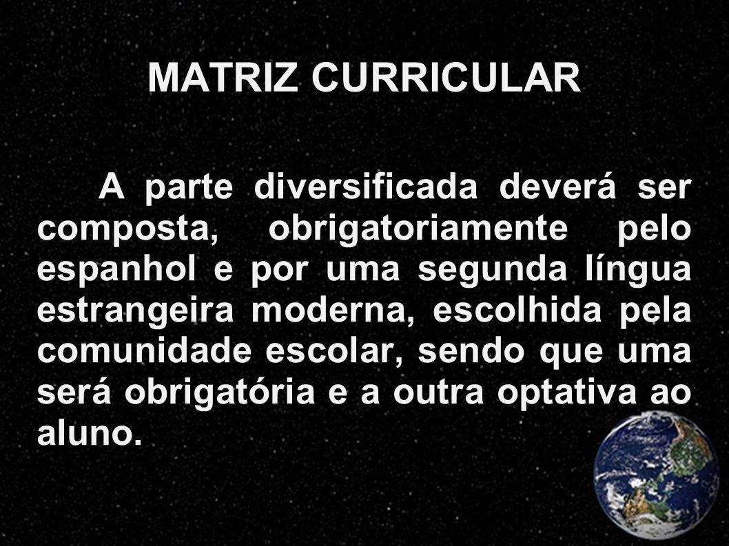 MATRIZ CURRICULAR