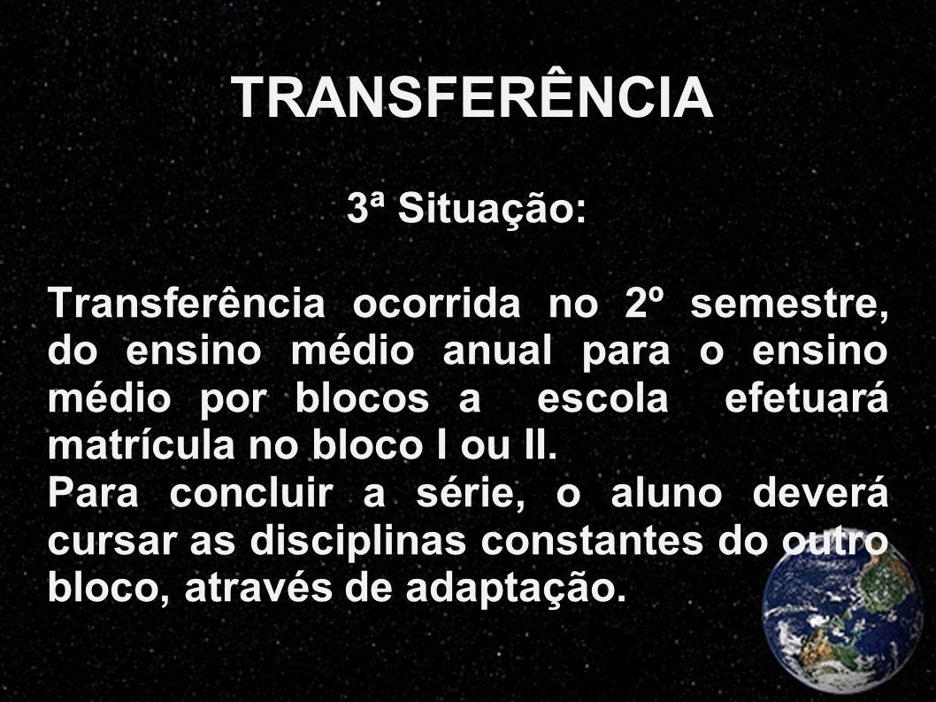 TRANSFERÊNCIA 3ª Situação: