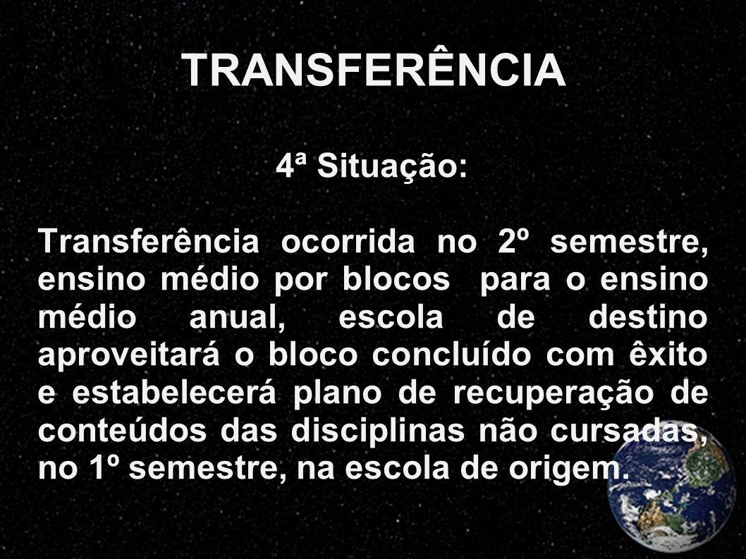 TRANSFERÊNCIA 4ª Situação:
