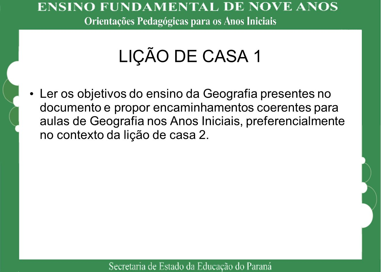 LIÇÃO DE CASA 1