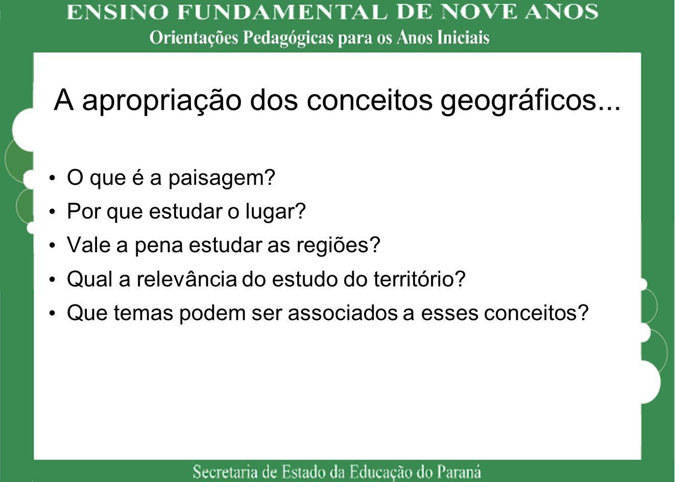 A apropriação dos conceitos geográficos...