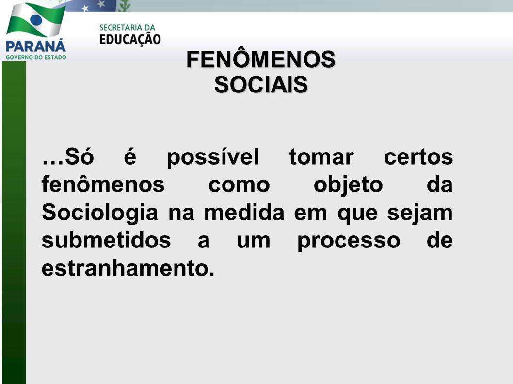 FENÔMENOS SOCIAIS.