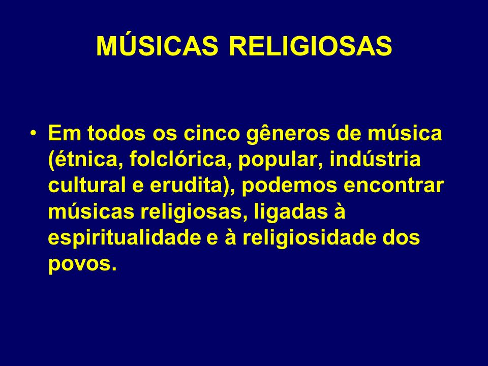 MÚSICAS RELIGIOSAS