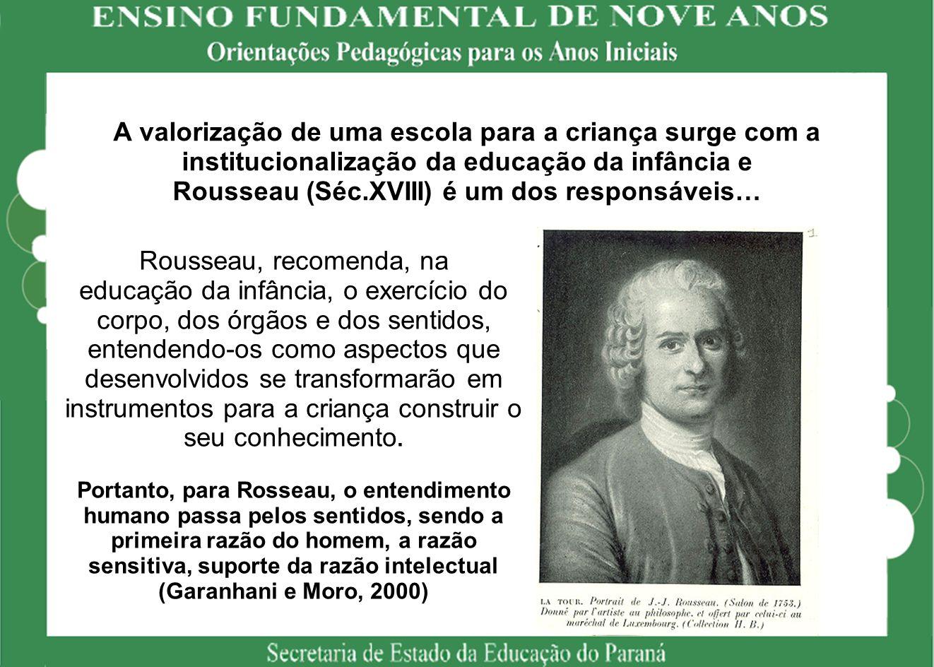 A valorização de uma escola para a criança surge com a institucionalização da educação da infância e Rousseau (Séc.XVIII) é um dos responsáveis…